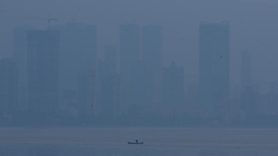 The air quality has been deteriorating in Mumbai since last week. Seen here, a view of the city on December 20.