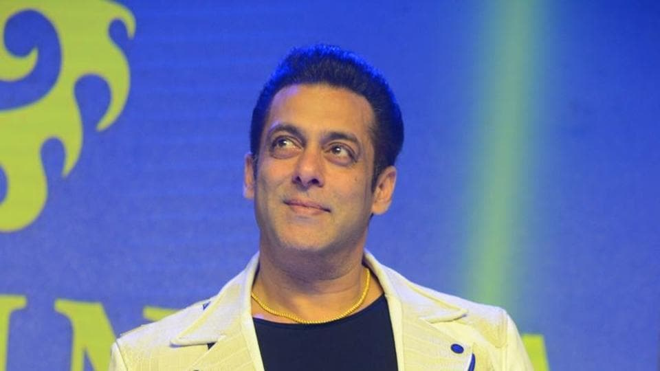 Salman Khan during the promotion of Dabangg 3 in Hyderabad.