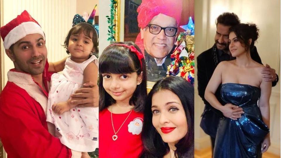 Varun Dhawan, Aishwarya Rai and Kajol celebrated Christmas with their families.