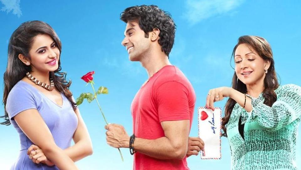 Rajkummar Rao stars with Rakul Preet Singh and Hema Malini in Shimla Mirchi.