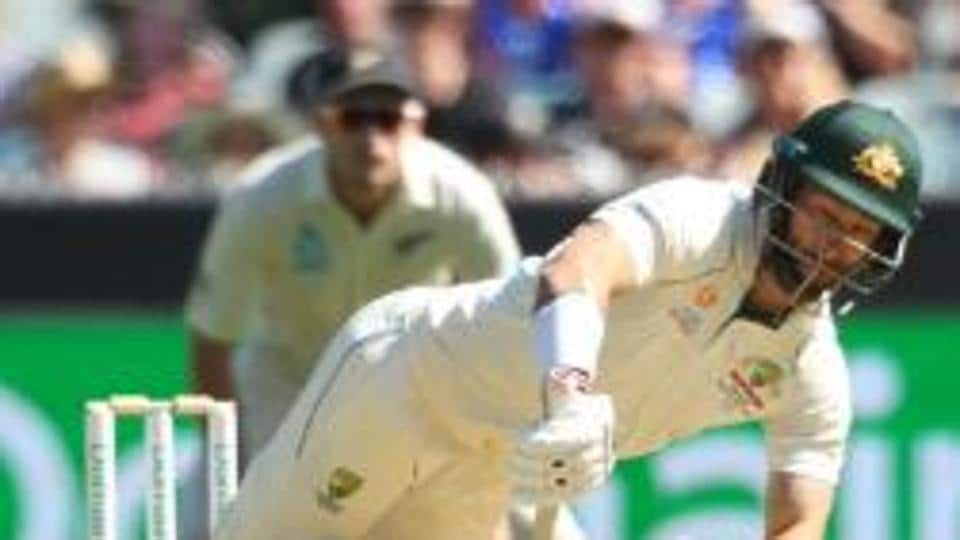 Matthew Wade plays a delivery during the opening day of Boxing Test.