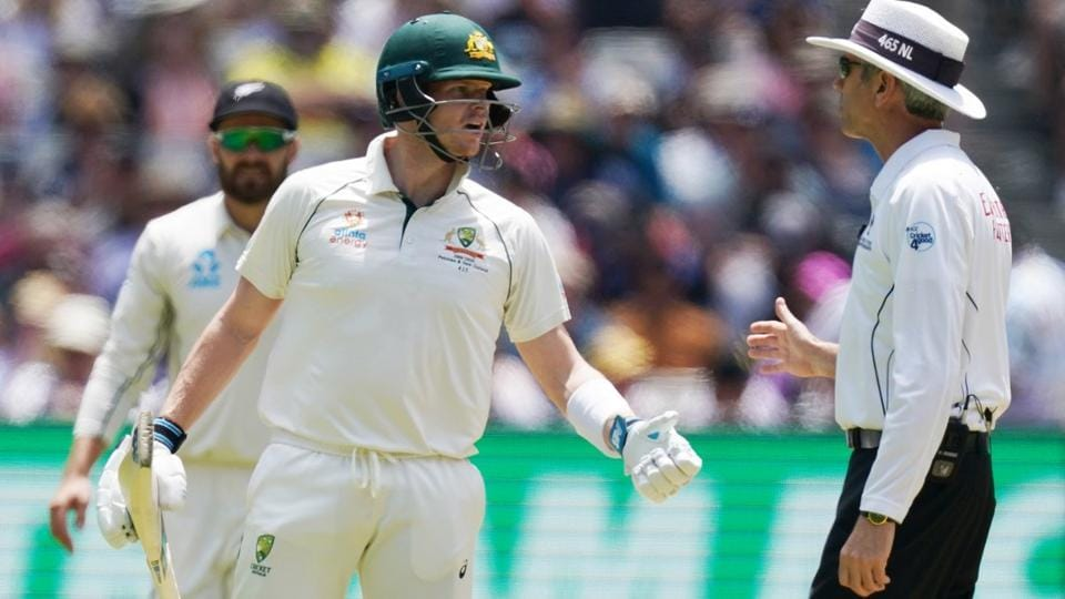 Steve Smith was involved in a heated spat with Nigel Llong