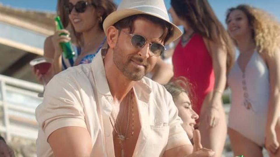 Hrithik Roshan in a still  from War.
