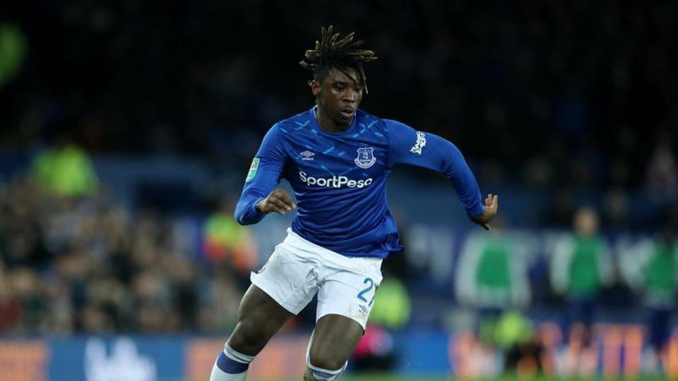 Everton's Moise Kean in action