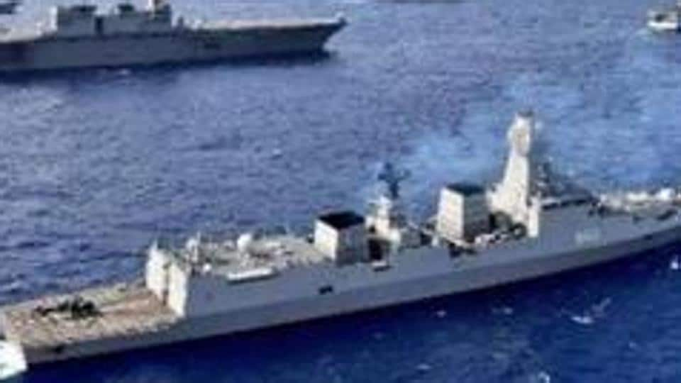 Indian Navy's INS Kolkata participated in China's PLA Navy's 70th-anniversary fleet review in April this year.