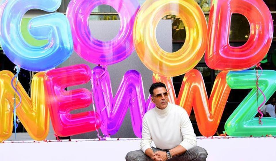 Akshay Kumar leads the cast in Good Newwz.