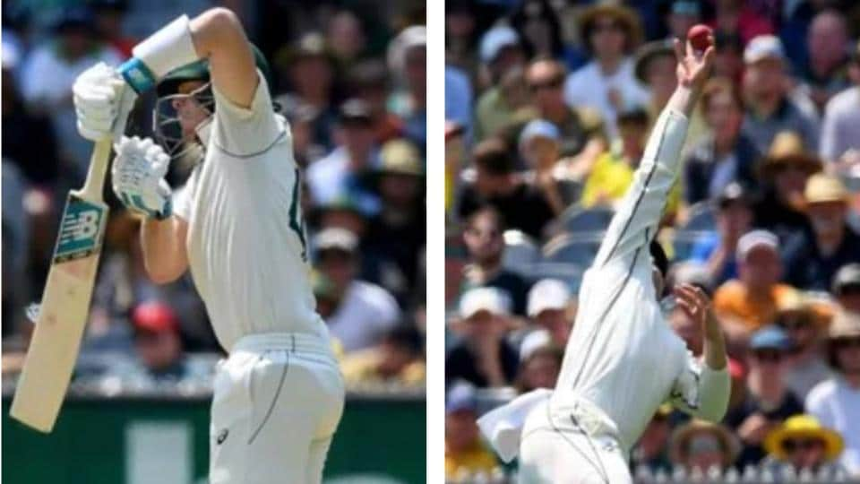 Henry takes a stunning catch to send Steve Smith packing