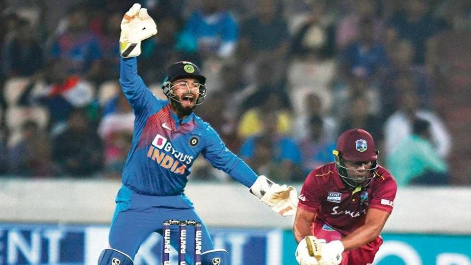 Rishabh Pant dropped four catches in the third and last ODIagainst West Indies in Cuttack