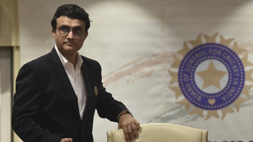 BCCI president Saurav Ganguly.