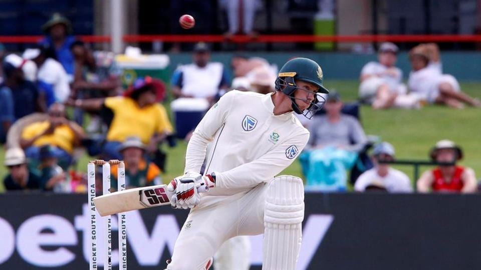 South Africa's Anrich Nortje avoids a ball bowled from England's Jofra Archer.
