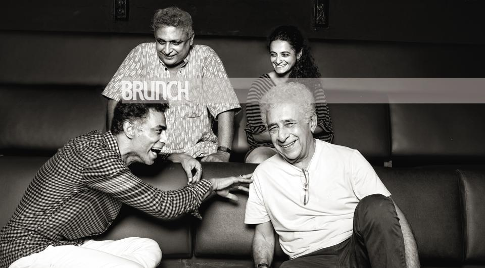 (Clockwise from top) Piyush Mishra, Faezeh Jalali, Naseeruddin Shah and Makarand Deshpande talk about the craft and the commerce of theatre and everything in between as they meet at the iconic Prithvi Theatre