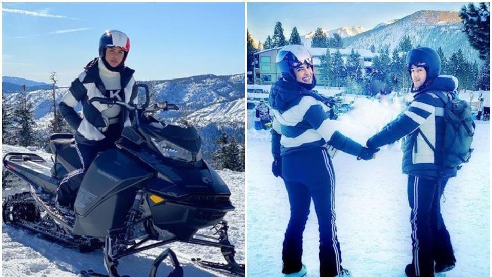 Priyanka Chopra and NickJonas in California, USA.