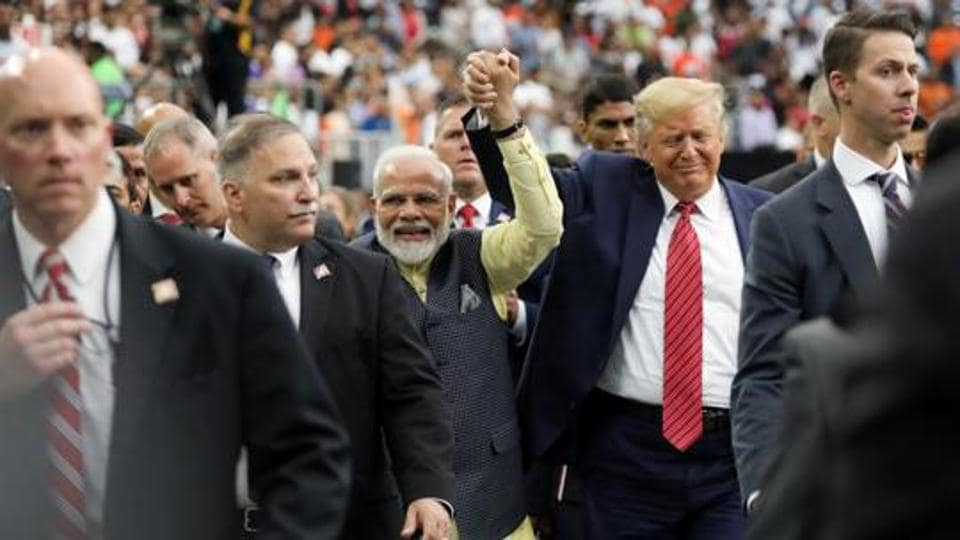 US President Donald Trump participates in the