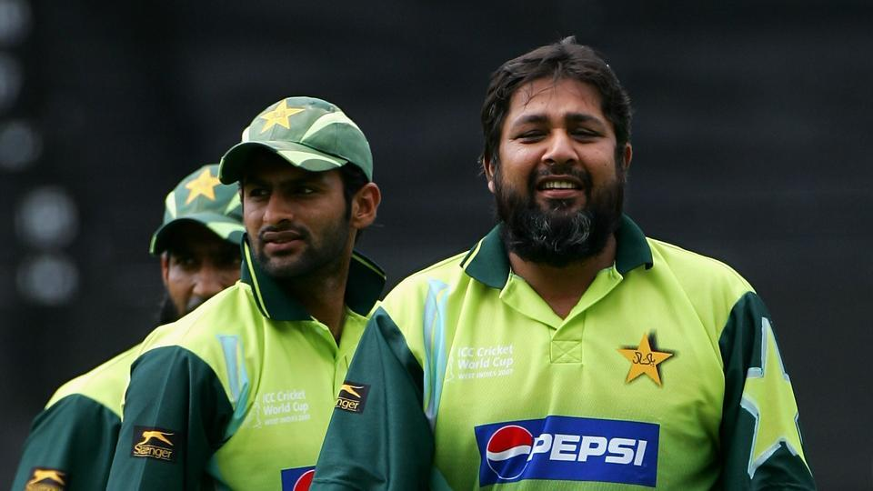 File image of former Pakistan captain Inzamam Ul Haq with his teammates.