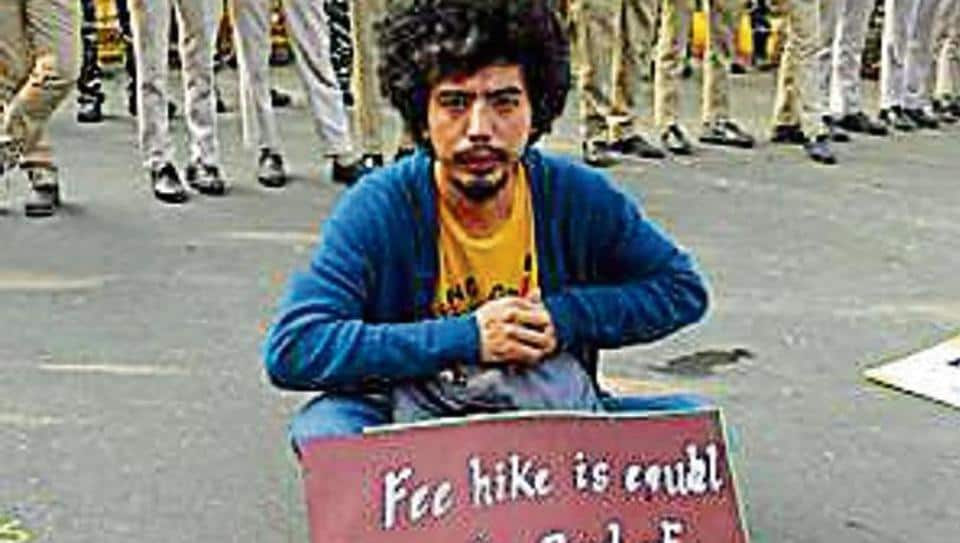 JNU students have been protesting since October 28 this year.