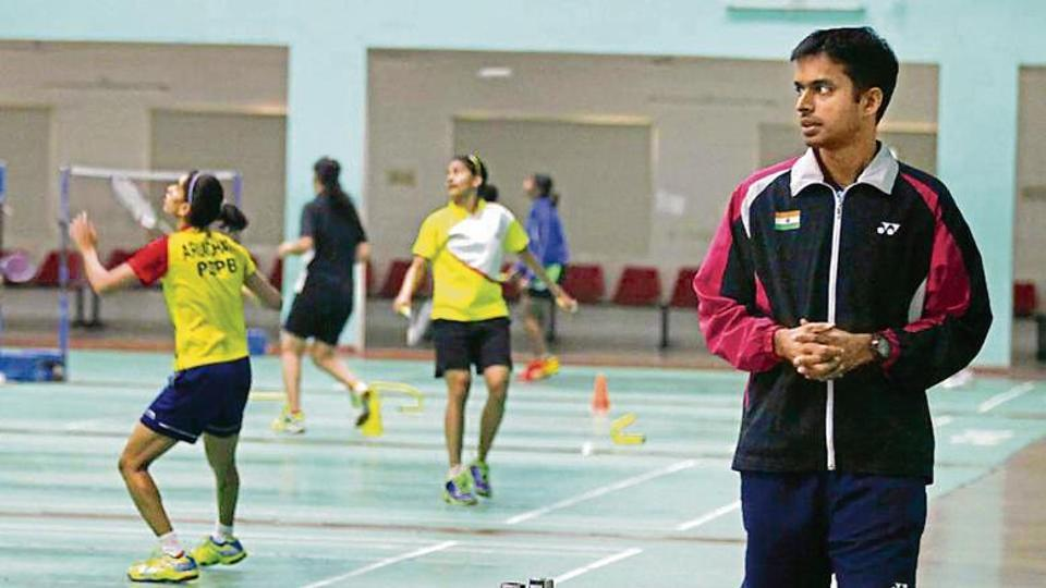 Pullela Gopichand at his badminton academy in Hyderabad.
