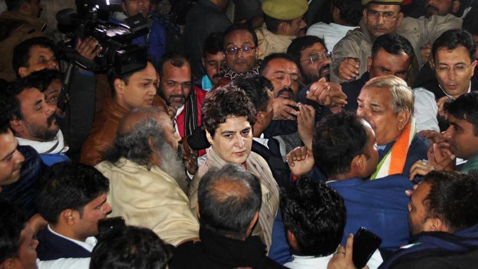 Congress leader Priyanka Gandhi Vadra in Lucknow.