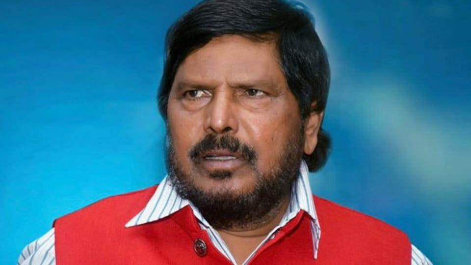 File photo of Ramdas Athawale. (Photo @RamdasAthawale)
