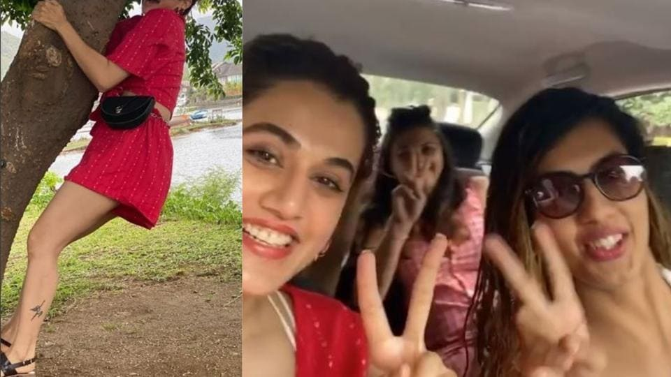 Taapsee Pannu is struggling to cope up with her sister Shagun Pannu's photography skills.