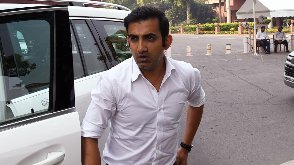 BJP MP Gautam Gambhir arrives at Parliament during the ongoing Winter Session, in New Delhi on Friday.
