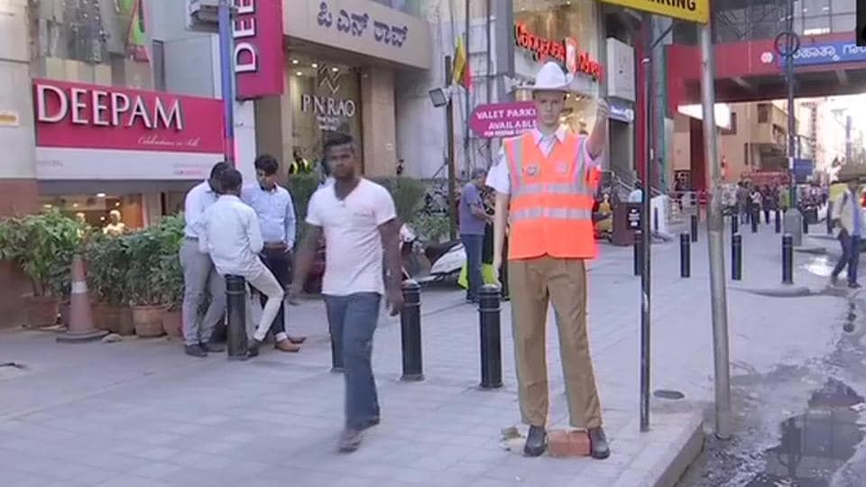 """""""The idea is not to scare anybody, the idea is to increase the compliance,"""" city police commissioner Bhaskar Rao told AFP."""