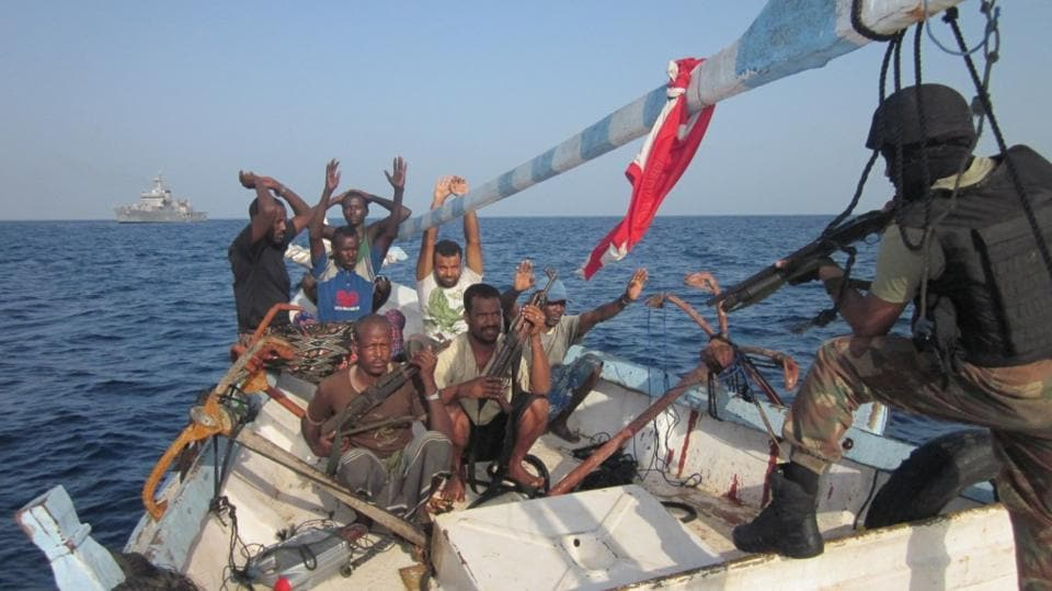 What recourse does India and the international community have against non-State actors such as the pirates stalking the West African shores?