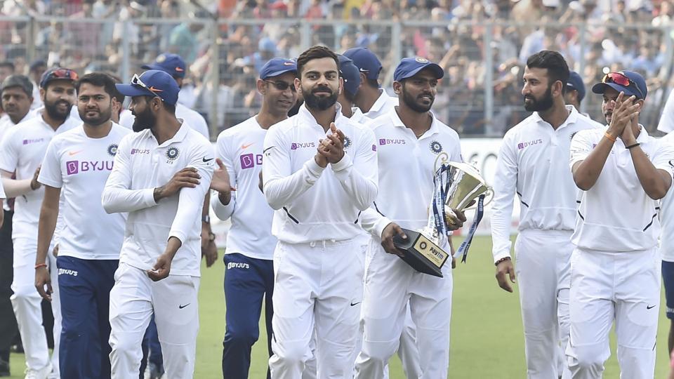 Virat Kohli and the Indian test side.