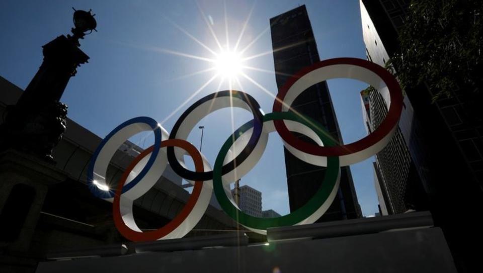 Representative image - Olympics rings in display in Tokyo