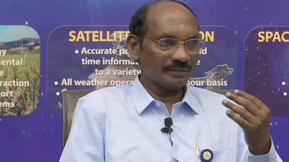 ISRO chief K Sivan addressing a press conference on Wednesday.