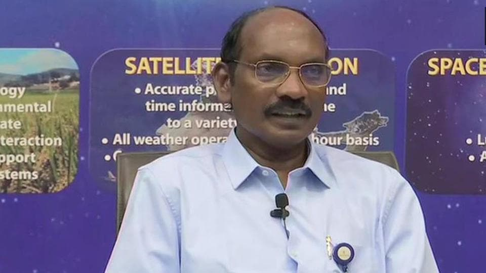 ISRO chief KSivan addressing a press conference in Bengaluru on Wednesday.