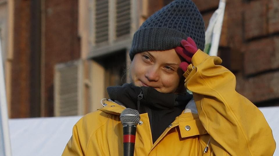 """Young Swedish activist Greta Thunberg has demanded a """"year of action"""" in 2020."""