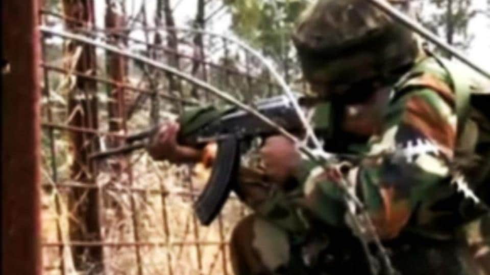 A file photo of a security personnel along the Line of Control (LoC) near the India- Pakistan border.