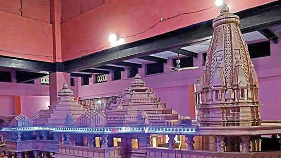 A model of the proposed temple in Ayodhya.