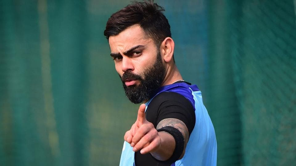 File image of India skipper Virat Kohli in action during a training session.