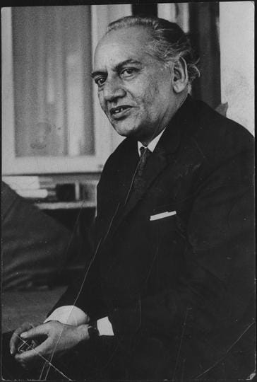 Faiz Ahmad Faiz, the revolutionary Urdu poet, who wrote, among his other legendary poems,