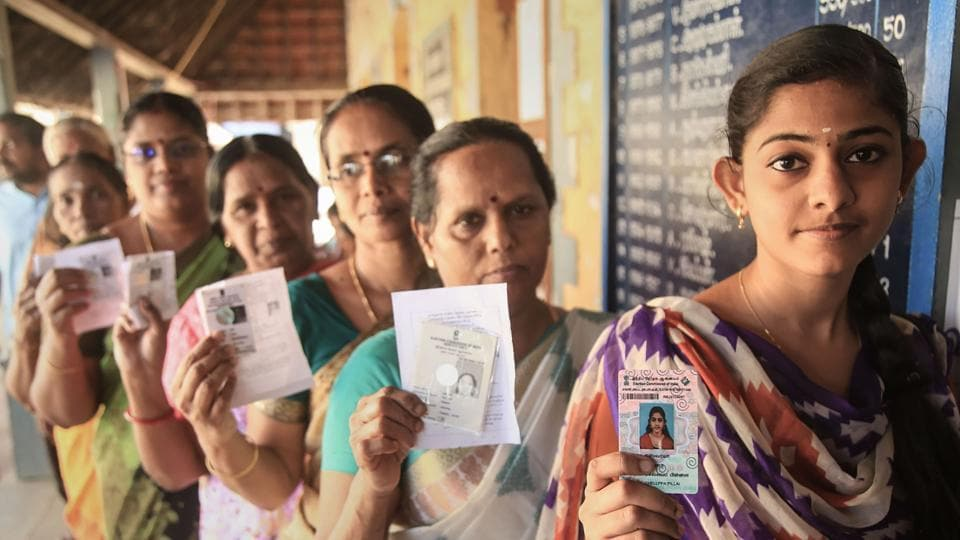 In this election, ballot papers were used instead of Electronic Voting Machines (EVMs).