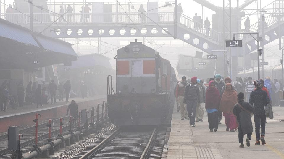 Due to low visibility in the Northern Railway region, at least 19 trains were running late on Friday.