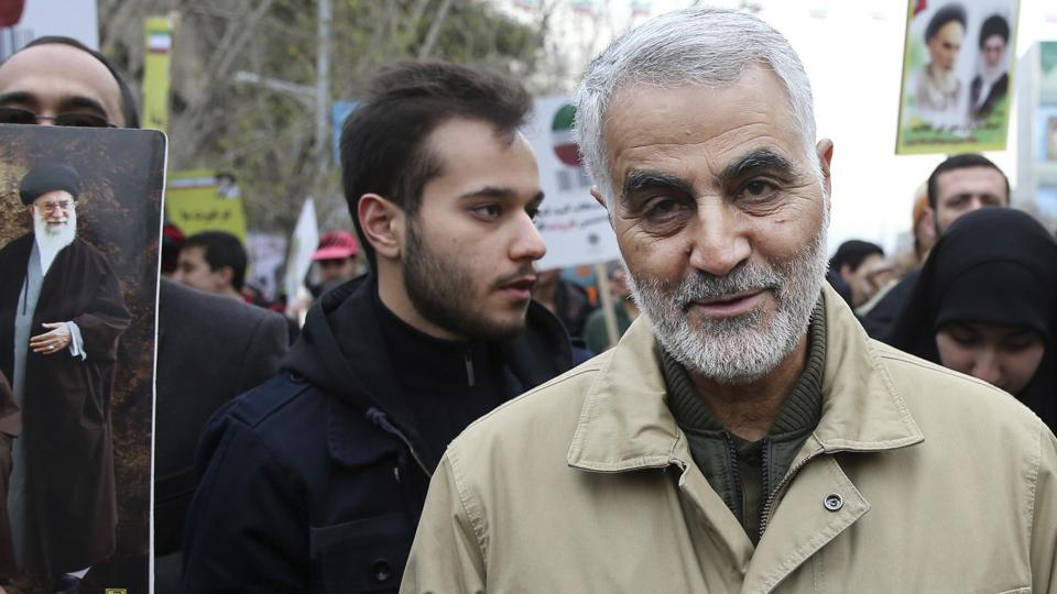 In this file photo, Qassem Soleimani, commander of Iran's Quds Force, attends an annual rally commemorating the anniversary of the 1979 Islamic revolution, in Tehran, Iran. The U.S. airstrike that killed a prominent Iranian general in Baghdad raises tensions even higher between Tehran and Washington after months of trading attacks and threats across the wider Middle East.