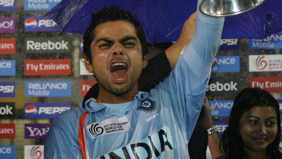 Virat Kohli, captain of India, lifts aloft the World Cup after India defeated South Africa at the ICC U/19 Cricket World Cup Final match held at the Kinrara Cricket Academy on March 2, 2008 in Kuala Lumpur, Malaysia.