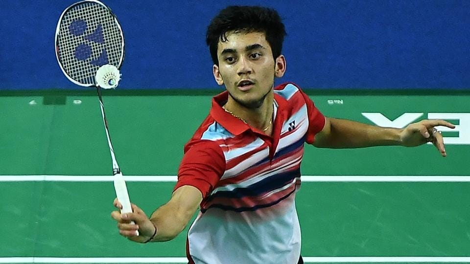 Lakshya Sen of India competes against Li Shifeng of China.