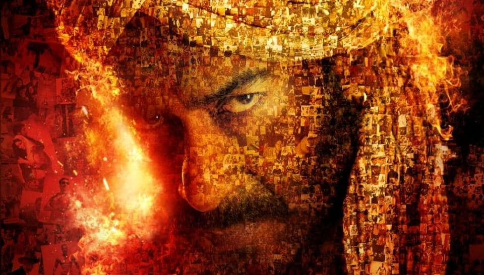 A poster of Ajay Devgn's Tanhaji The Unsung Warrior shows a glimpse of his several successful films.