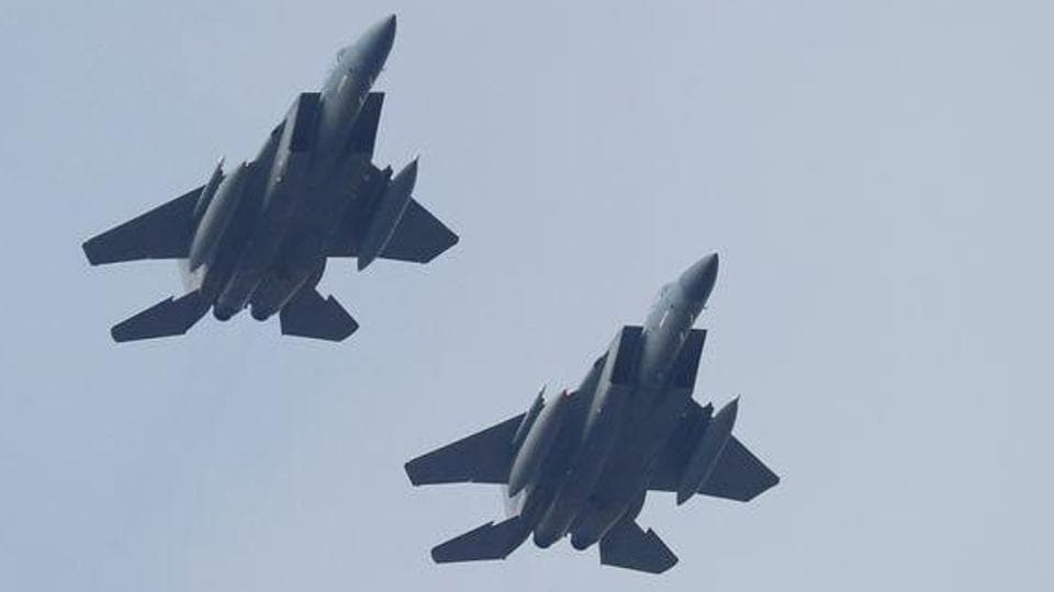 Military jets could be seen in Tehran skies post rocket strikes on Us airbase in Iraq.