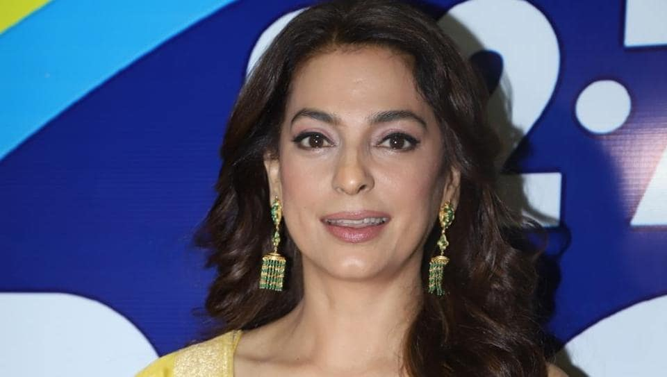 Juhi Chawla during an launch in Mumbai.