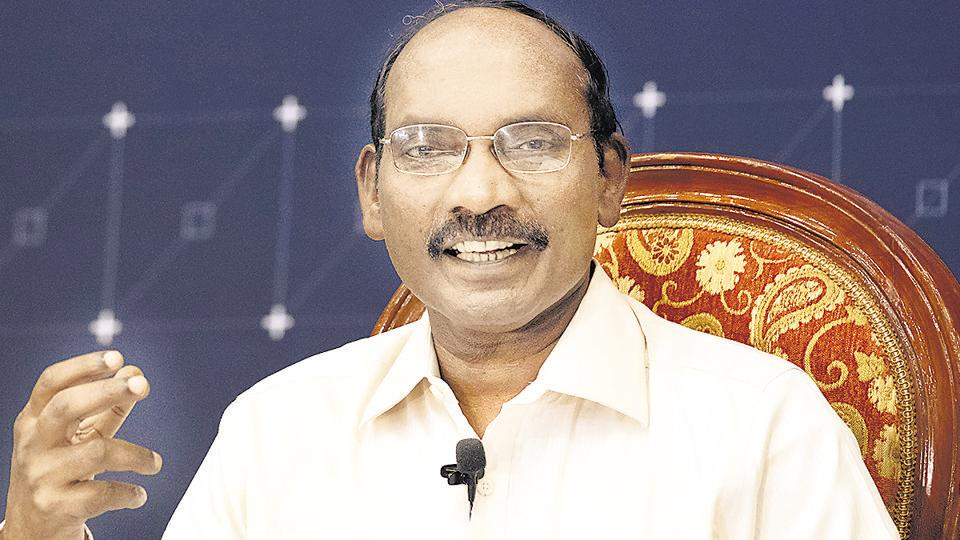 K. Sivan, chairman of the Indian Space Research Organisation (ISRO).