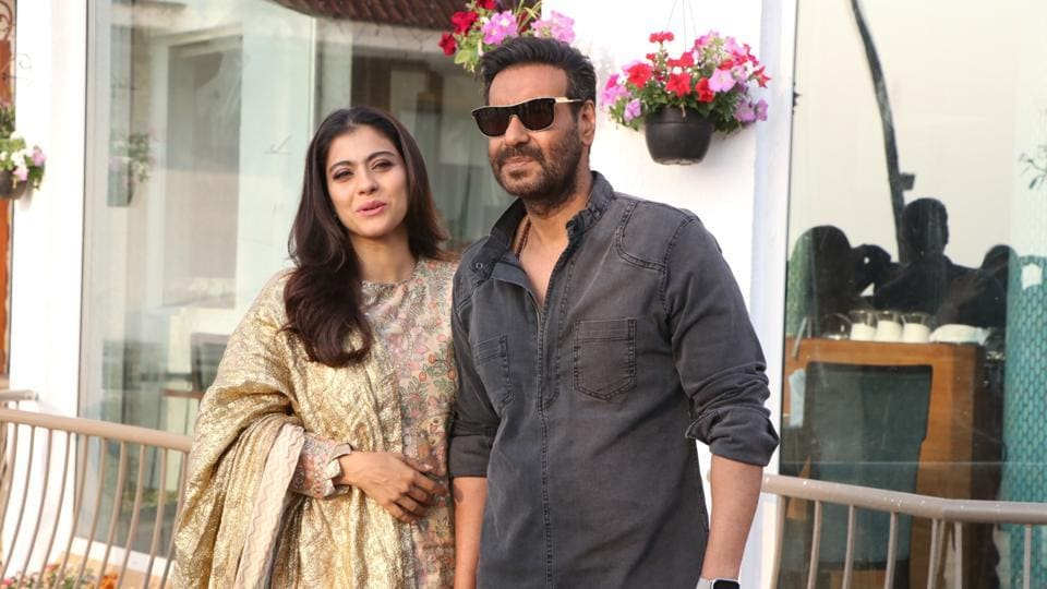 Kajol and Ajay Devgn during the promotions of their upcoming film Tanhaji: The Unsung Warrior.