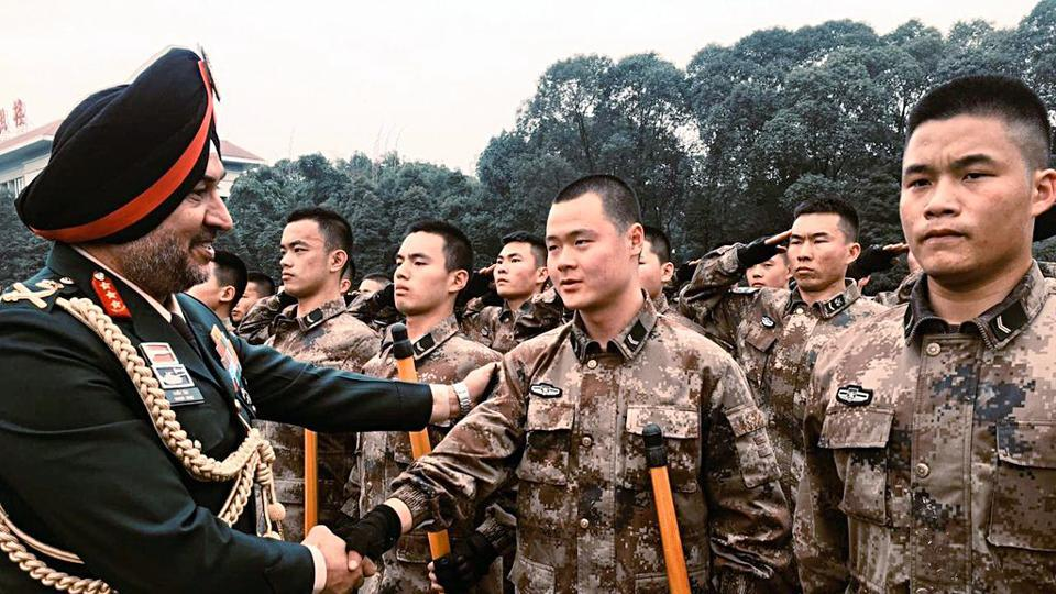 Lieutenant General Ranbir Singh, the chief of the Indian Army's Northern Command on Thursday reached the northwestern frontier province of Xinjiang