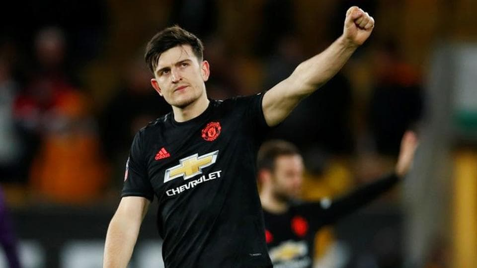 Manchester United's Harry Maguire reacts after the match.