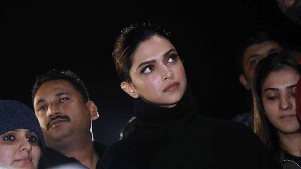 Bollywood actor Deepika Padukone joins JNU students protesting against the violence in JNU, at JNU Campus in New Delhi.