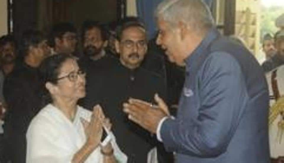 West Bengal chief minister  Mamata Banerjee and governor Jagdeep Dhankhar.