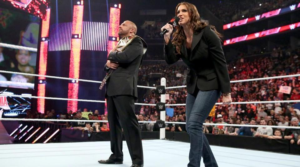 WWE's Stephanie McMahon and Triple H.